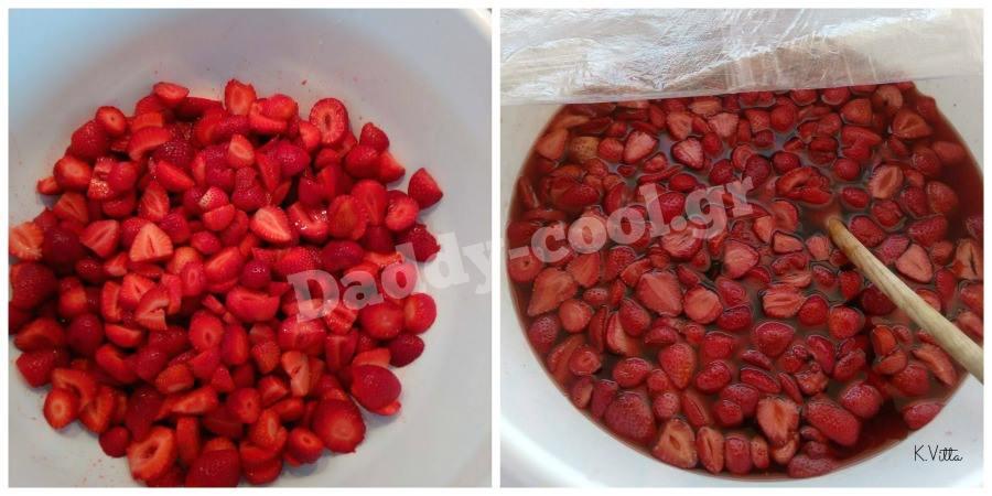 Λικέρ φράουλα με 3 υλικά έτοιμο  σε 3 μέρες
