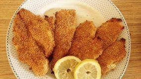 Φιλετα ψαριου πανέ στο φουρνο
