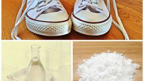 Κάντε τα βρώμικα λευκά παπούτσια σας να λάμψουν με 2 μόνο υλικά