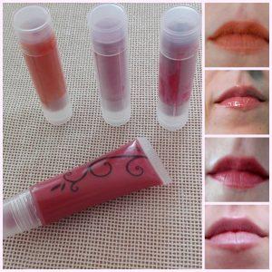 collage lipsticks