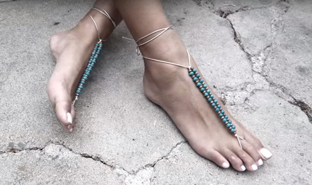 Barefoot Sandals.Το must του καλοκαιριού και βίντεο για να τα φτιάξετε μόνες σας