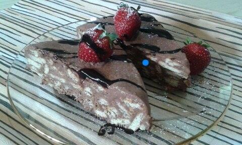 Μωσαικο με σοκολατα γαλακτος και καρυδα