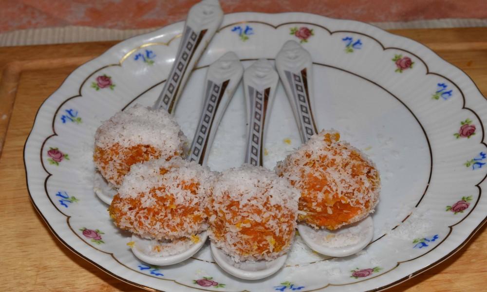 Γλυκές μπαλίτσες καρότου με 4 υλικά