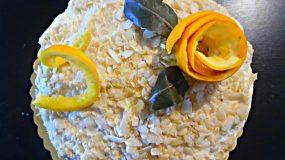Τούρτα αμυγδάλου με πορτοκάλι της Έφης
