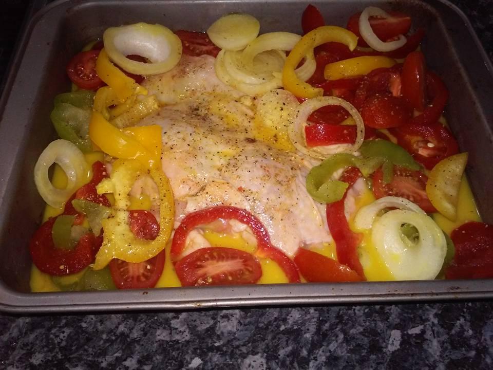 Κοτοπουλο με λαχανικα και φιλαδελφεια 2 μοναδες