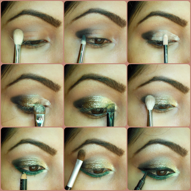 eye-makeup-tutorial-look-glitter-gold-and-greens