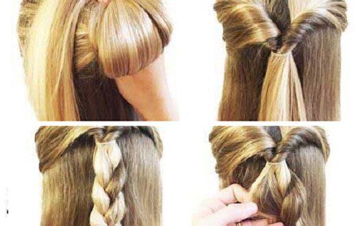 Φτιάξτε ένα τριαντάφυλλο με πλεξούδες στα μαλλιά σας
