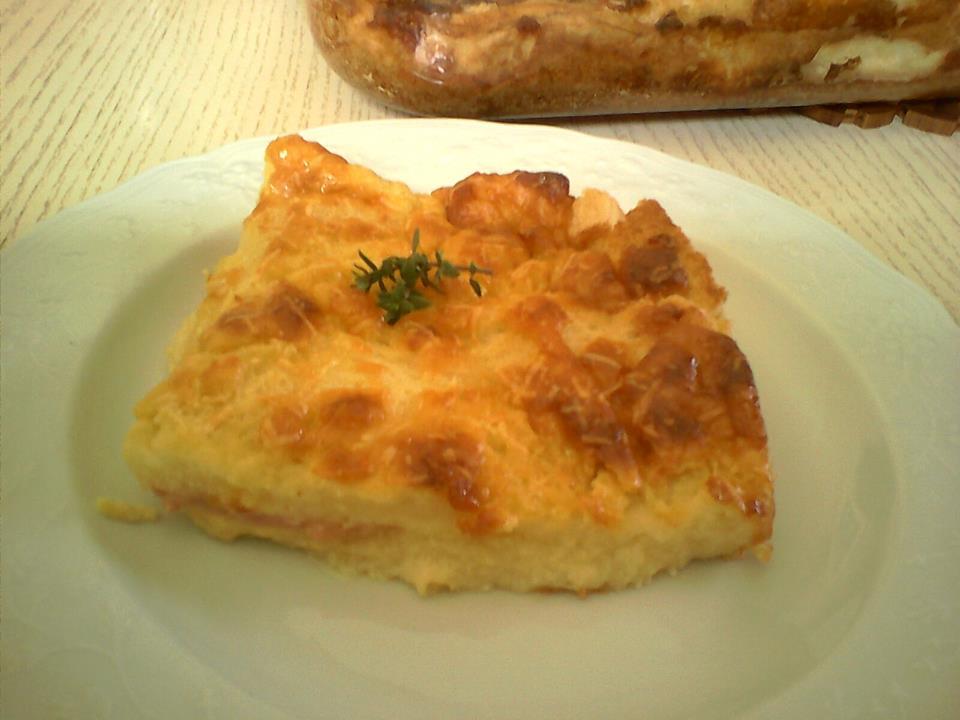 Σουφλέ ψωμιού με τυρί και μουστάρδα!