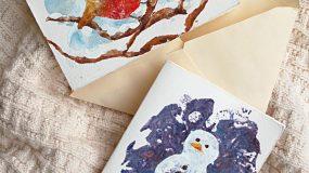 Φτιάξτε φανταστικές χριστουγεννιάτικες κάρτες με πατάτα!
