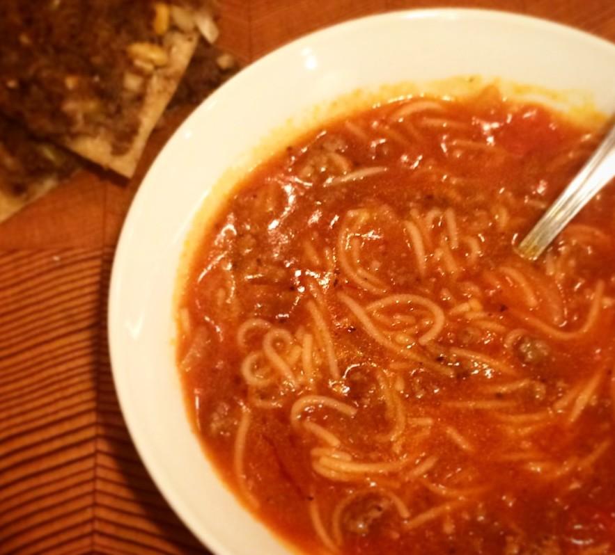 Ντοματόσουπα με φιδέ