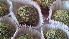 Σοκολατάκια μπισκότου με αμύγδαλα με μόνο 4 υλικα