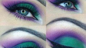 Πάρτε ιδέες για  υπέροχα  purple smokey μακιγιάζ