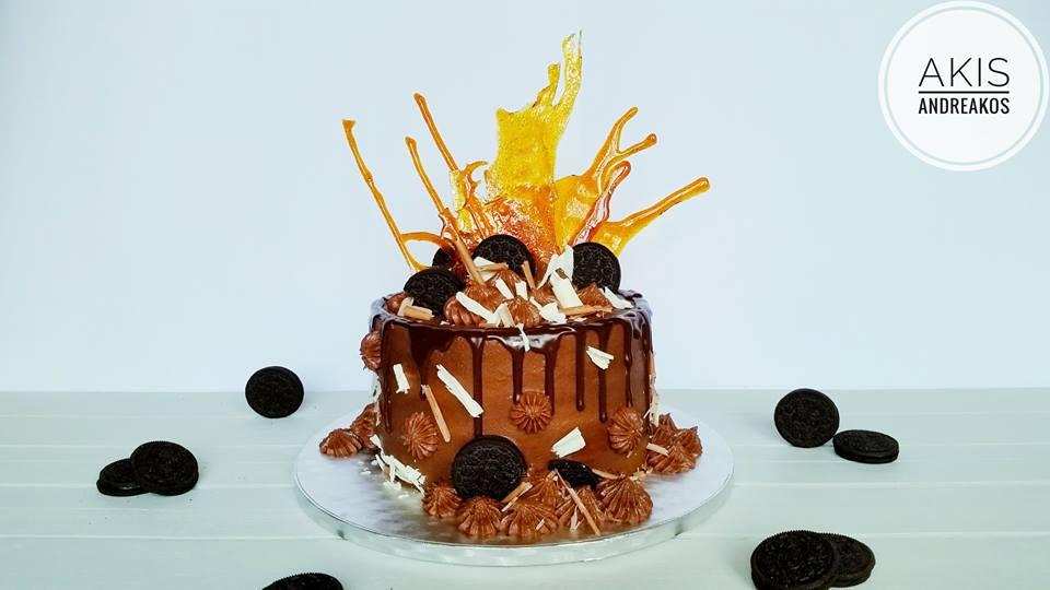 Birthday Cake lemon-espresso with chocolate frosting