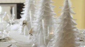 Δημιουργήστε ένα παραμυθένιο χιονισμένο τοπίο με άσπρες χριστουγεννιάτικες διακοσμήσεις