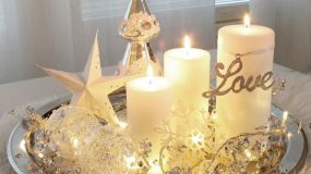 Ιδέες Χριστουγεννιάτικης διακόσμησης για το τραπεζάκι του σαλονιού σας