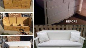 Πώς να μετατρέψετε την παλιά σας συρταριέρα σε ένα παγκάκι