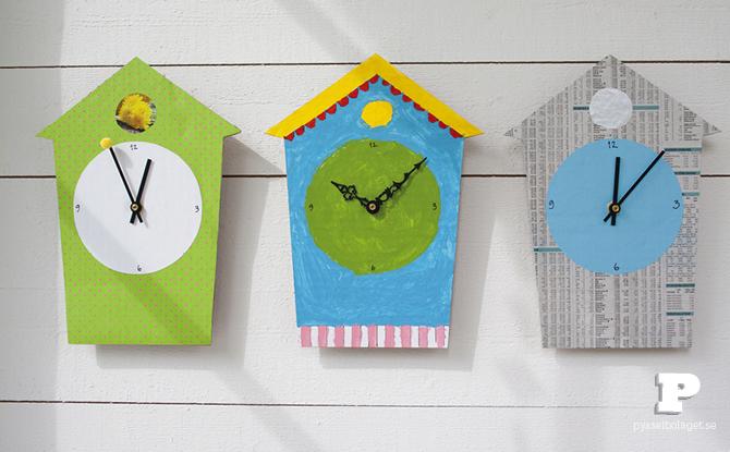 Δείτε πως να φτιάξετε ένα παιχνιδιάρικο ρολόι με ένα χαρτόνι