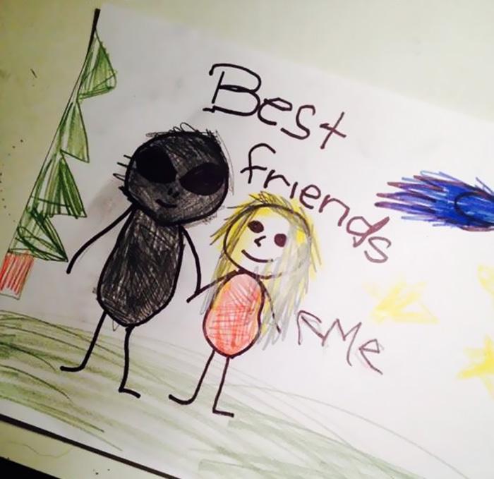 Δείτε τις πιο ανατριχιαστικές ζωγραφιές που έχουν ζωγραφίσει ποτέ παιδιά!