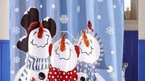 20 φανταστικές χριστουγεννιάτικες κουρτίνες μπάνιου