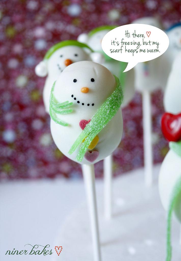 Φτιάξτε γλειφιτζούρια-κεκάκια με χριστουγεννιάτικους χιονάνθρωπους