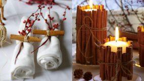 Ιδέες Χριστουγεννιάτικης διακόσμησης  με sticks κανέλας