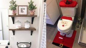 Ιδέες διακόσμησης του μπάνιου σας για τα Χριστούγεννα!!