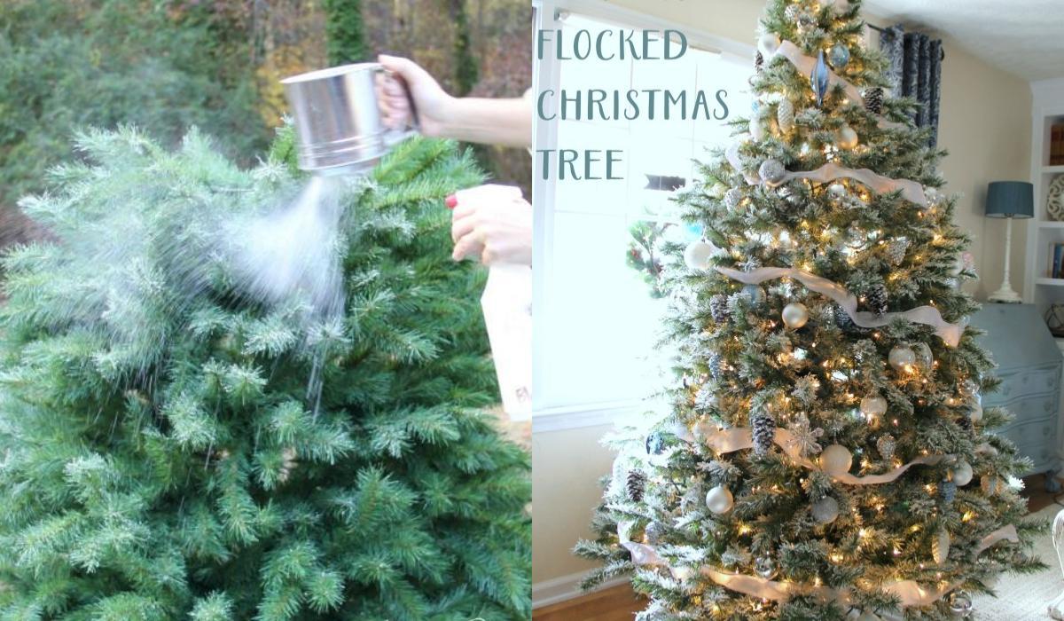 Απλός τρόπος για να φτιάξετε ένα Χριστουγεννιάτικο χιονισμένο δέντρο