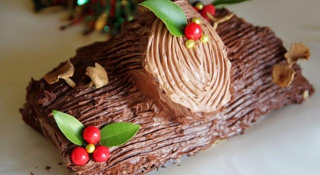 Φανταστικός σοκολατένιος Χριστουγεννιάτικος κορμός