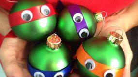 Φτιάξτε χριστουγεννιάτικες μπάλες Χελωνονιντζάκια!