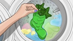 Bάζει μια κάλτσα με φύλλα μέσα στο πλυντήριο..δεν θα πιστεύετε τι θα γίνει..