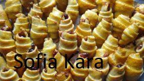 Κρουασανάκια με κάστανο και μαρμελάδα