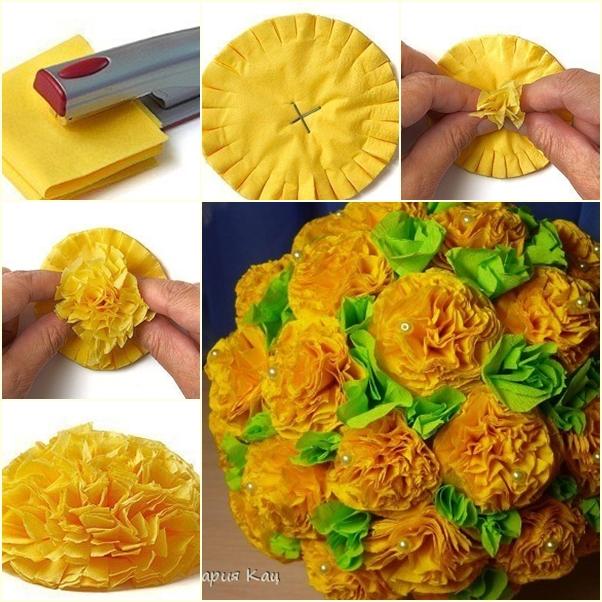 Φτιάξτε μόνοι σας ένα υπέροχο μπουκέτο με ψεύτικα λουλούδια!