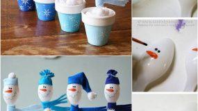 Ο πιο εύκολος τρόπος να φτιάξετε ένα χιονάνθρωπο με πλαστικά κουτάλια!