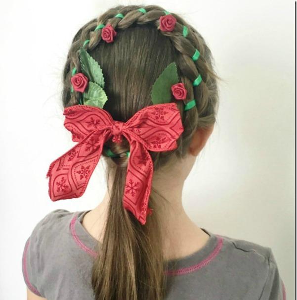 Πρωτότυπα χριστουγεννιάτικα χτενίσματα για τα κοριτσάκια σας Βήμα Βήμα!