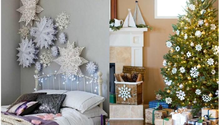 Υπέροχες ιδέες διακόσμησης του σπιτιού σας με χιονονιφάδες!