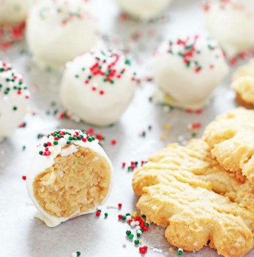 Τρουφάκια από μπισκότα βουτύρου με τρία υλικά