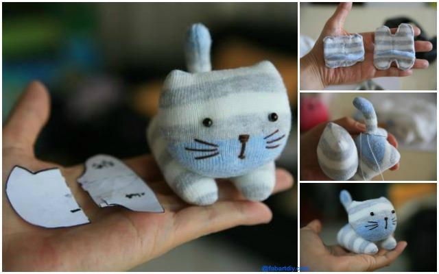 Πως να φτιάξετε γατάκια με κάλτσες!!