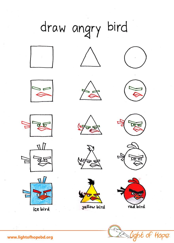 Πως μπορείτε να ζωγραφίσετε κάθε ζωο, από ένα τετράγωνο, τρίγωνο και ένα κύκλο
