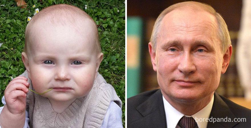 Μωρά που μοιάζουν με διάσημους part-1