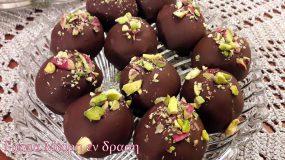 Σοκολατάκια με σιμιγδάλι και μελομακάρονα που περισσεψαν