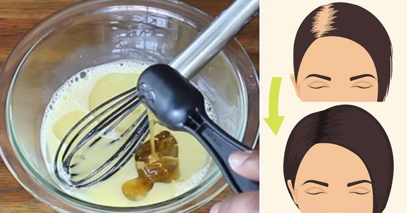 Αναμειγνύει 3 υλικά και τα βάζει στα μαλλιά της. Το αποτέλεσμα θα σας κάνει να τρέξετε στη κουζίνα σας!