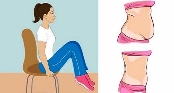 Καθίστε και χάστε κιλά!! Εξαφανίστε το λίπος της κοιλιάς με αυτές τις 5 ασκήσεις της καρέκλας!