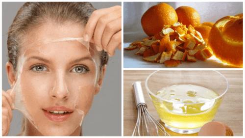 Τονώστε το δέρμα με ασπράδι αβγού και φλούδα πορτοκαλιού
