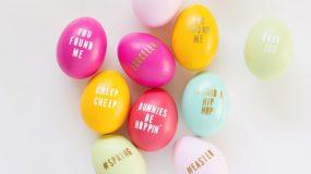 Γράψτε οτι θέλετε πάνω στα αυγά σας με ένα διαφορετικό τρόπο!