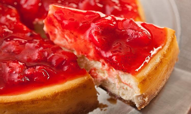 Cheesecake φράουλας με μέλι