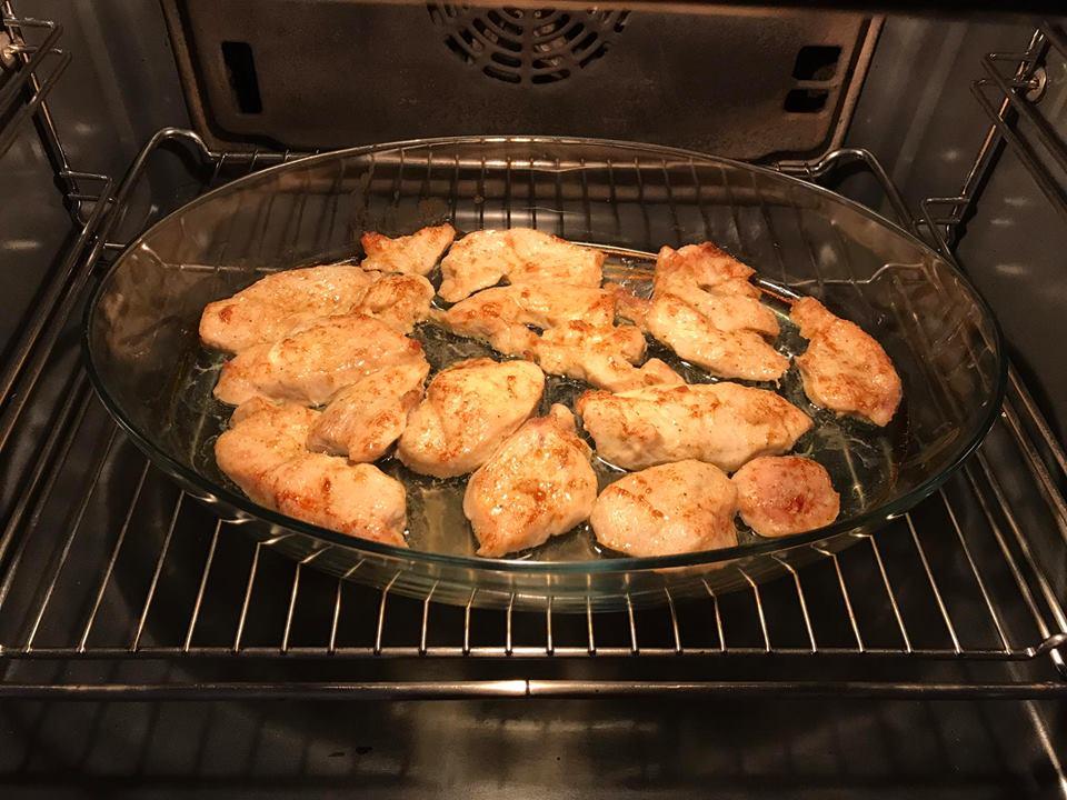 Φιλετάκια κοτόπουλο με μαγιονέζα και μουστάρδα