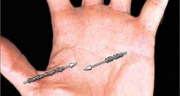 Έχετε τη γραμμή του φύλακα άγγελου στο χέρι σας; Δείτε τι σημαίνει....