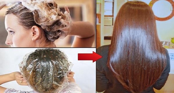 Εφαρμόζει αυτή την μάσκα στα μαλλιά της και την αφήνει για 15 λεπτά.. Το αποτέλεσμα θα σας αφήσει με το στόμα ανοιχτό!