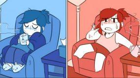 ΠΩΣ είναι να είσαι άρρωστος το Καλοκαίρι και ΠΩΣ το Χειμώνα μέσα από 5 χιουμοριστικά σκίτσα!