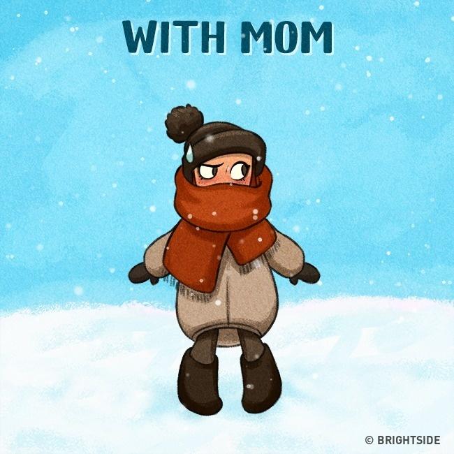 Σκίτσα που δείχνουν πόσο ανάγκη έχουμε την μαμά μας